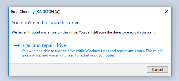 scan and repair drive