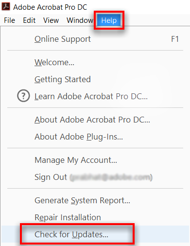 update Adobe Acrobat Reader