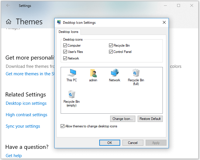 Fix Can't Find Recycle Bin in Windows - Check Your Desktop Icon Setting