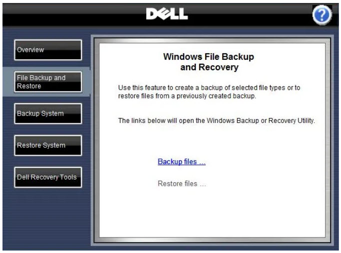 dell recovery tools