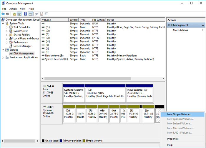 create-volume-on-dynamic-disk