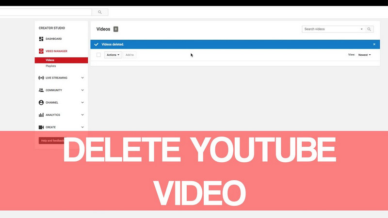 Delete YouTube video