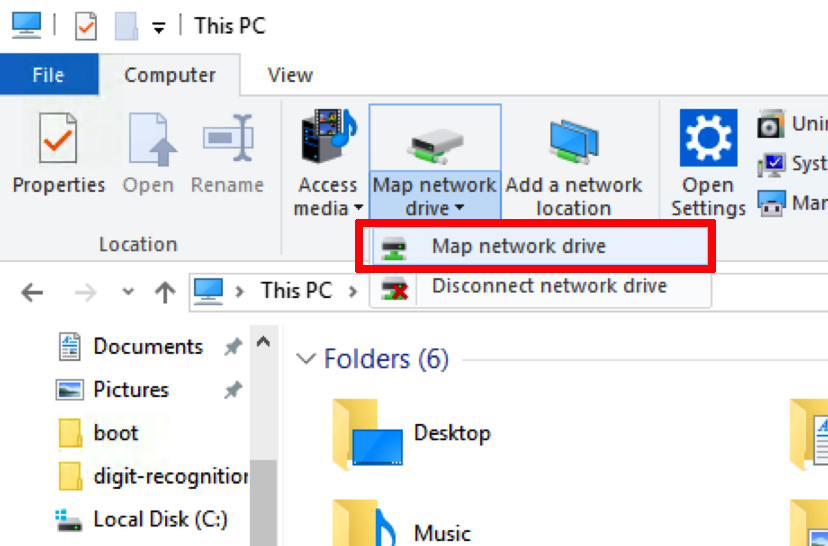 disconnet netword drive