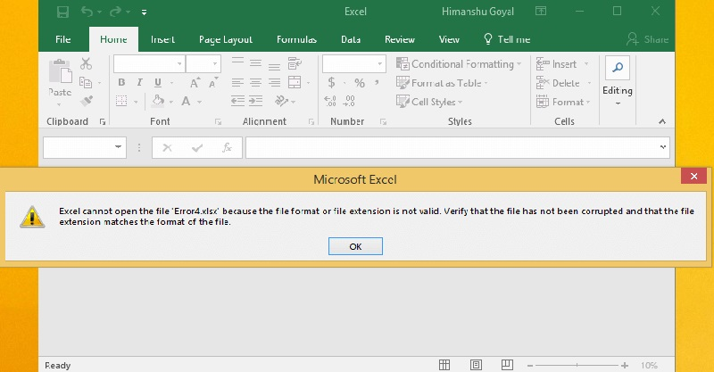 excel cannot open file