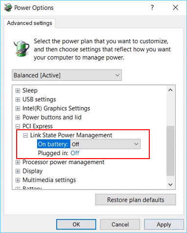 Blue Screen When Playing Games in Windows 7/8/10 - Change Power Settings