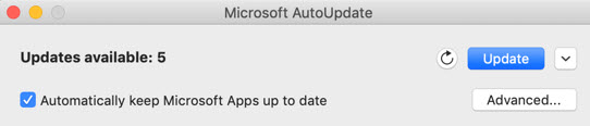 update Word for Mac