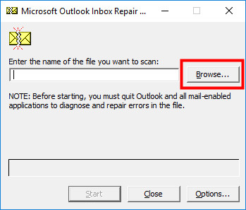 Microsoft Outlook inbox repair tool 1