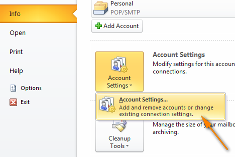 outlook-account-settings