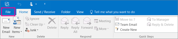 outlook-file-menu