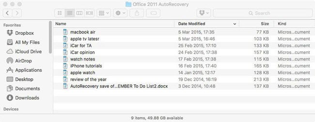 Best Way to Recover Unsaved/Lost/Deleted Excel File on Mac