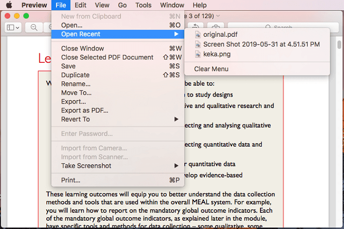 recover unsaved PDF files on Mac