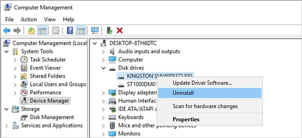 how to reinstall driver of the sd card
