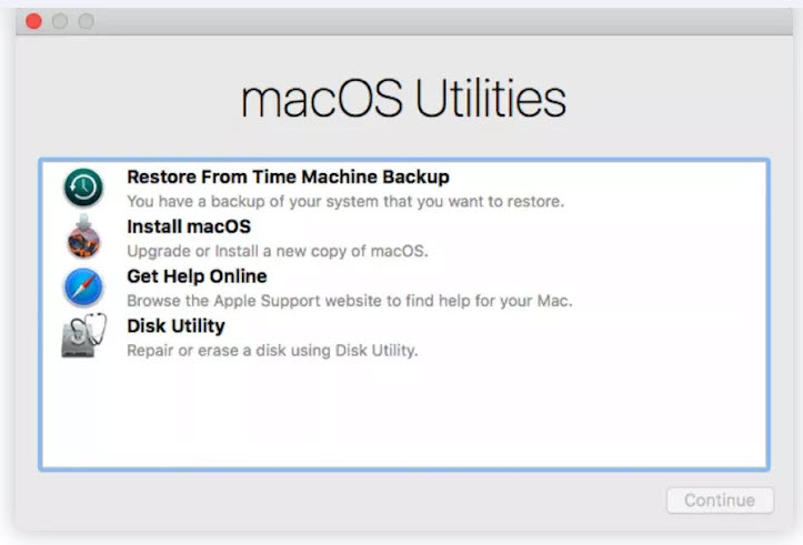 restart mac in recovery mode