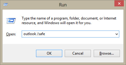 Run Outlook in safe mode