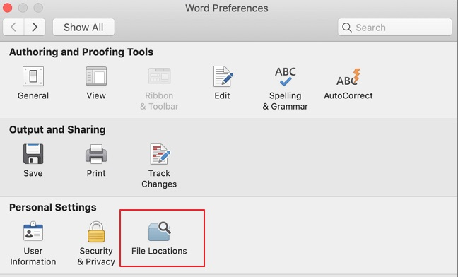 Word Not Opening on Mac - Remove Word Preferences