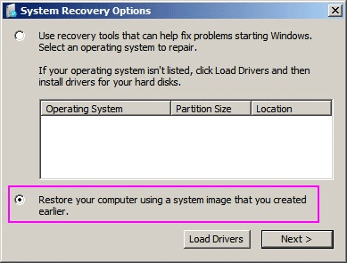 Recover Hard Drive with Windows Recovery/Installation Disc