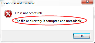 The file or directory is corrupted and unreadable: Fix Now!