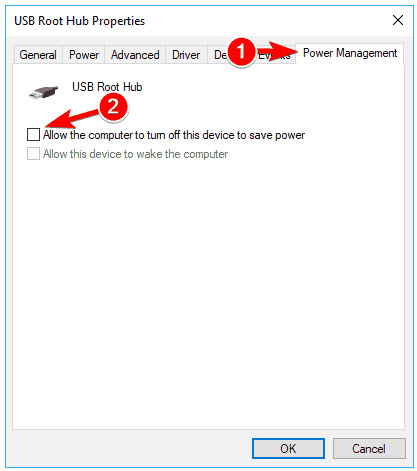 allow the computer to turn off this device to save power
