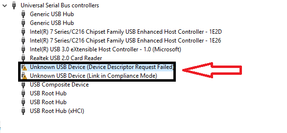 unknown-usb-device-device-descriptor-request-failed