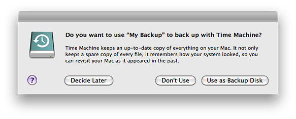 use as a backup disk
