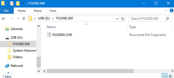What is the Found.000 Folder