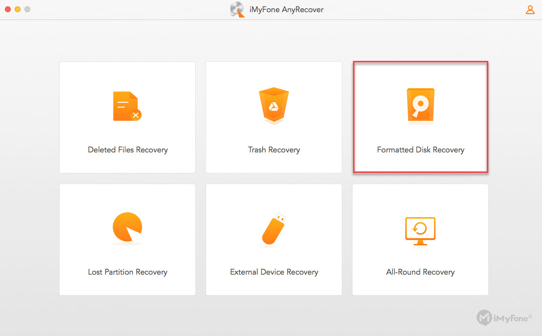 Anyrecover Fomatted Disk Recovery Mode Guide