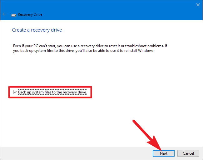 create recovery partition