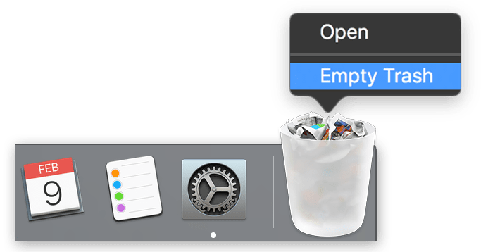 empty trash on mac