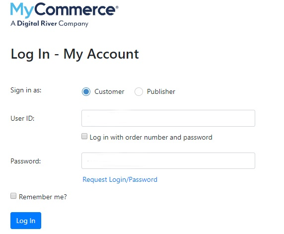 login my commerce