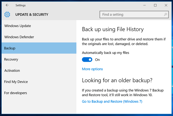 restore windows backup