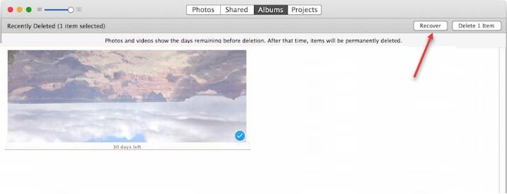 recover photos iphoto