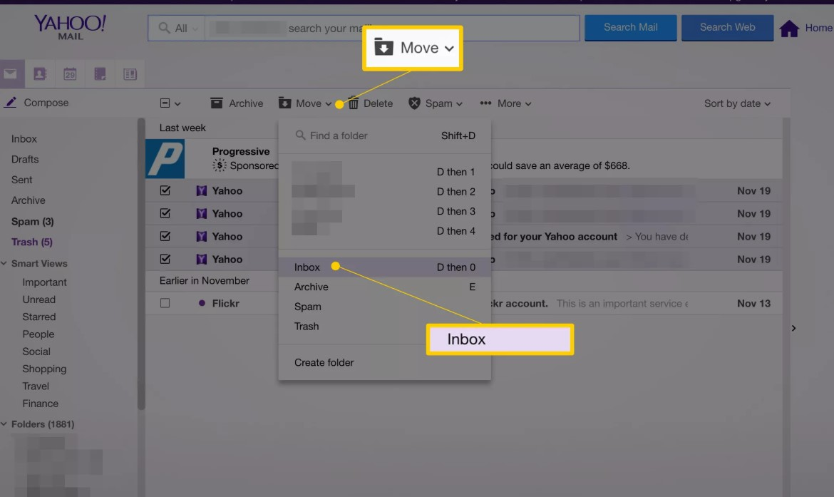 recover yahoo email account