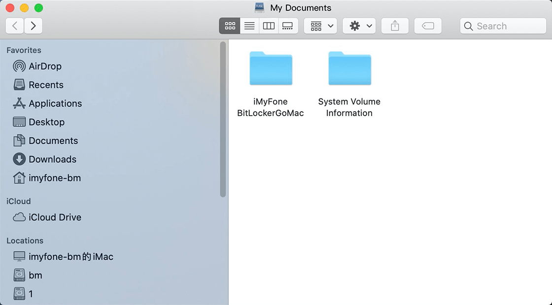 read/write BitLocker drive on mac